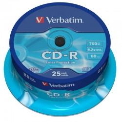 Verbatim CD-R 52x 700 MB (Tarrina 25 Uds.)