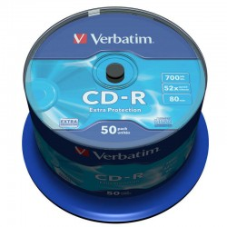 Verbatim CD-R 52x 700 MB (Tarrina 50 Uds.)